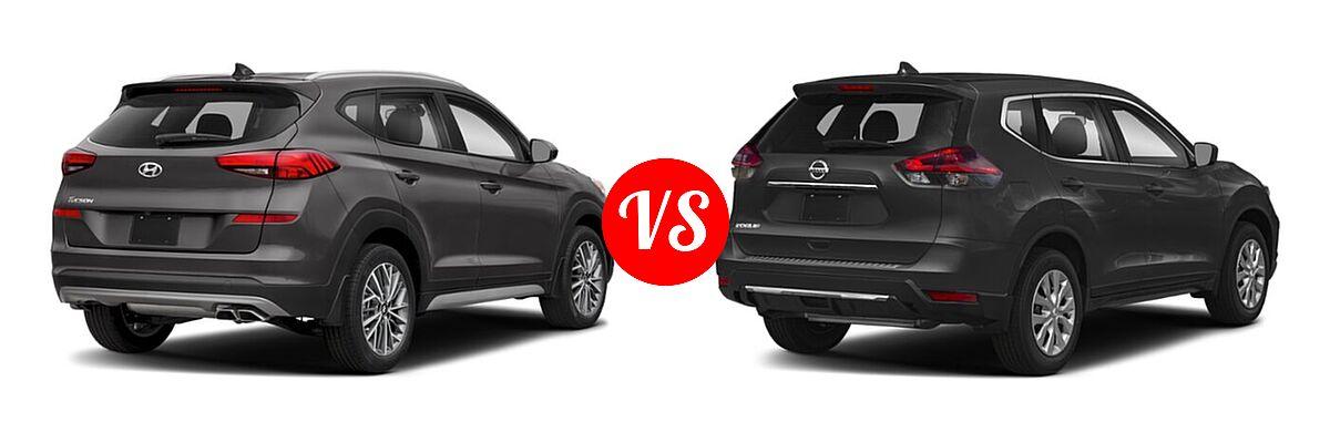 2020 Hyundai Tucson SUV SEL vs. 2020 Nissan Rogue SUV S / SV - Rear Right Comparison