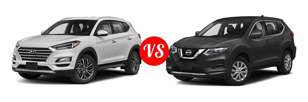2020 Hyundai Tucson SUV Limited vs. 2020 Nissan Rogue SUV S / SV - Front Left Comparison