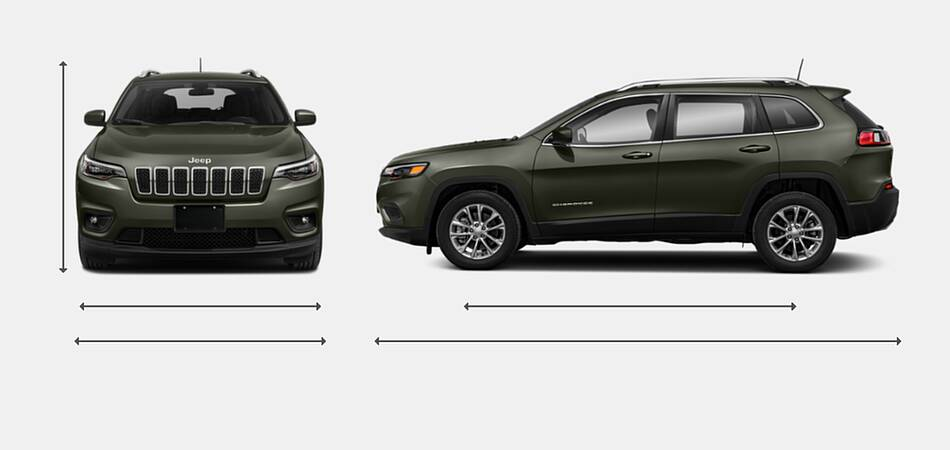 2021 Jeep Cherokee Exterior Dimensions