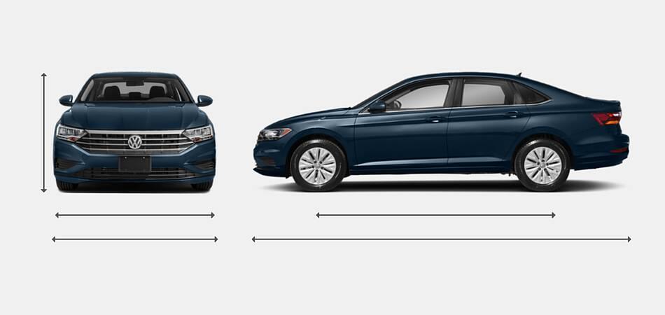 2021 Volkswagen Jetta Exterior Dimensions