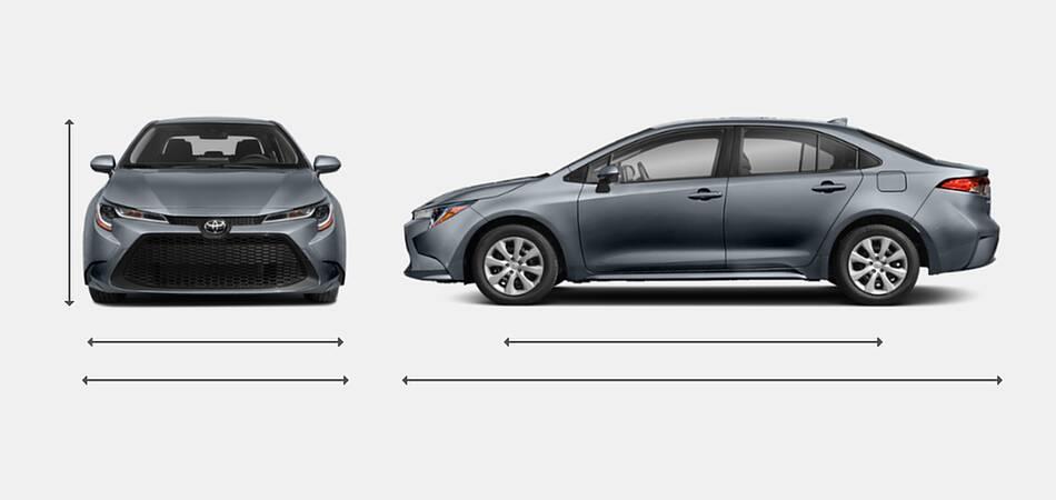 2021 Toyota Corolla Exterior Dimensions