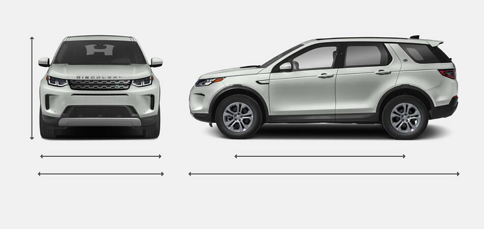 2020 Land Rover Discovery Sport Exterior Dimensions