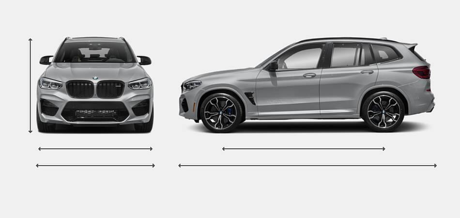 2021 BMW X3 M Exterior Dimensions