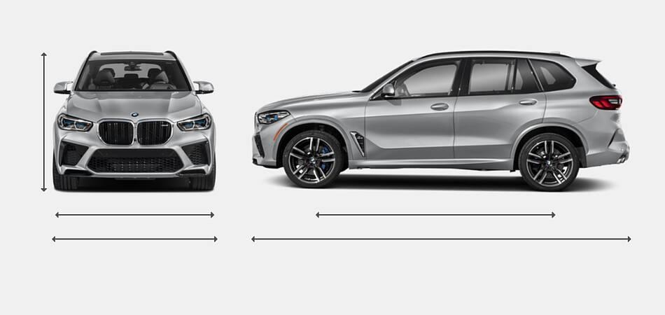 2021 BMW X5 M Exterior Dimensions