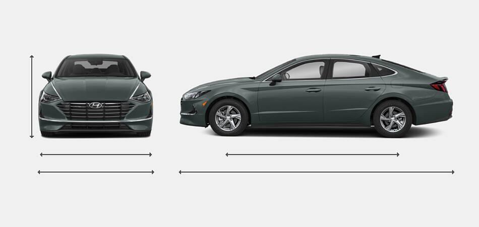 2020 Hyundai Sonata Exterior Dimensions