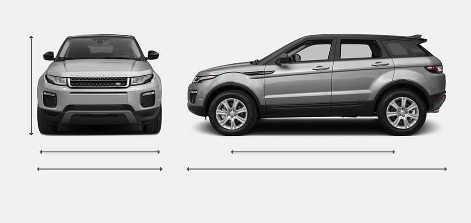 2017 Land Rover Range Rover Evoque Exterior Dimensions