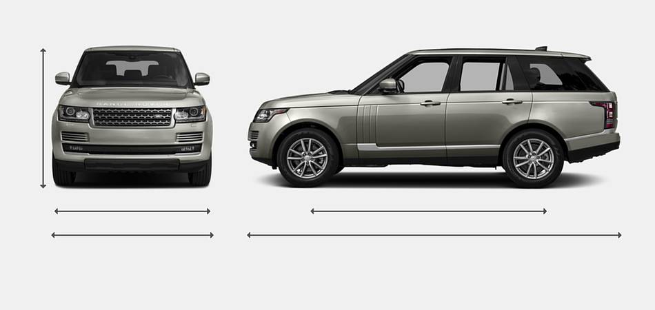 2017 Land Rover Range Rover SV Autobiography Dynamic Exterior Dimensions