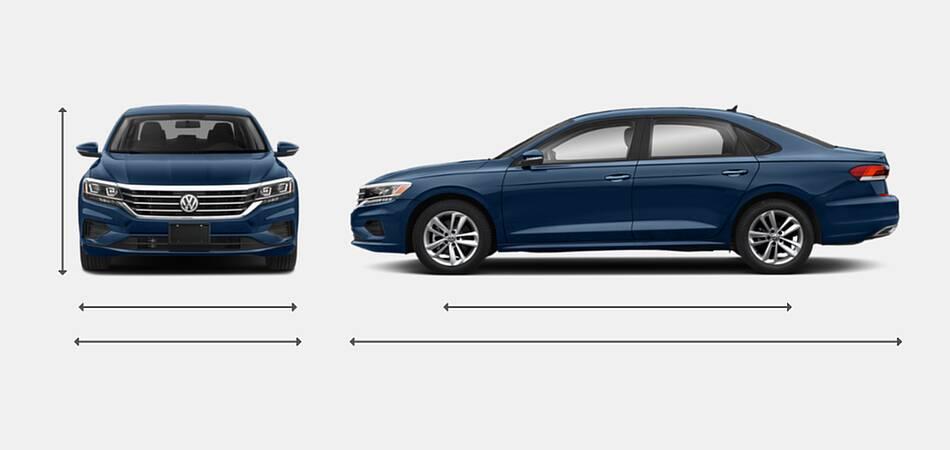 2021 Volkswagen Passat Exterior Dimensions