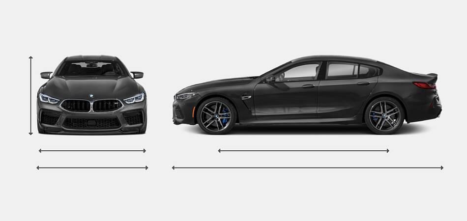 2021 BMW M8 Gran Coupe Exterior Dimensions