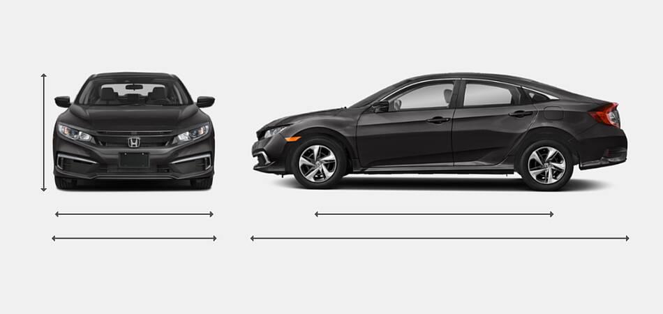2021 Honda Civic Sedan Exterior Dimensions