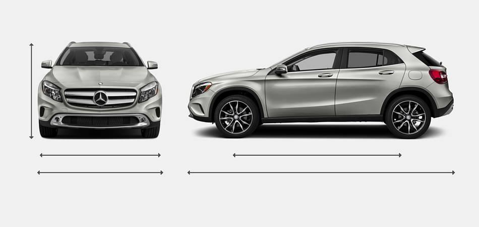 2017 Mercedes-Benz GLA-Class Exterior Dimensions