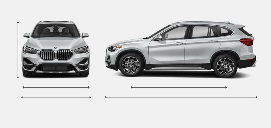 2021 BMW X1 Exterior Dimensions