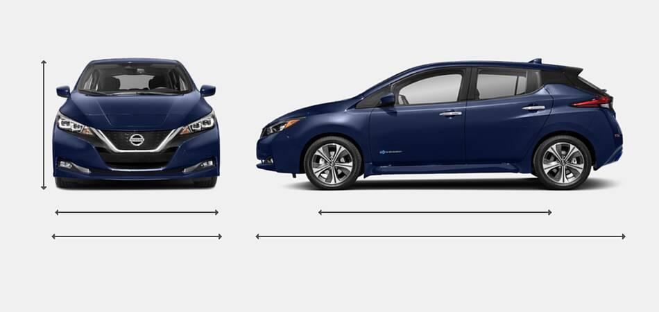 2021 Nissan Leaf Exterior Dimensions