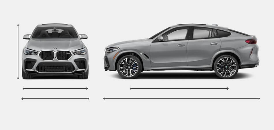 2021 BMW X6 M Exterior Dimensions