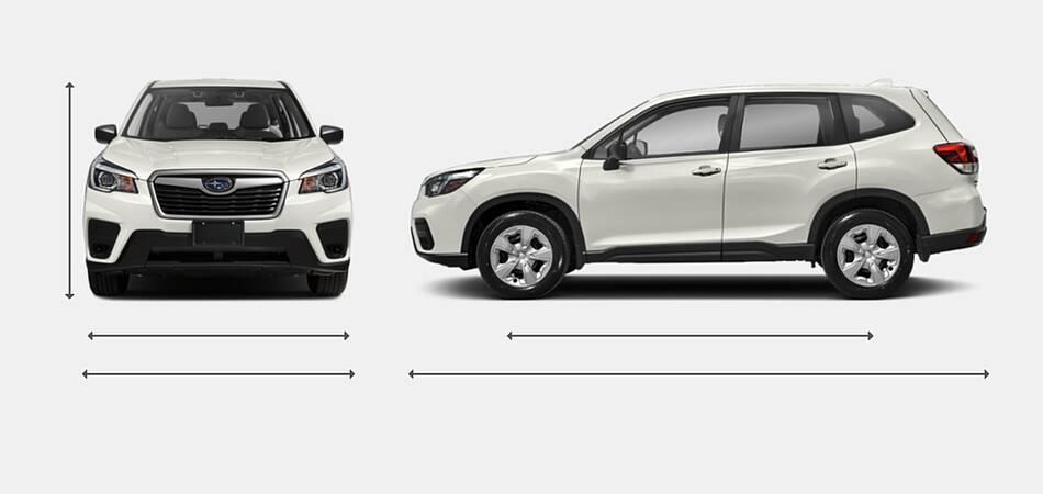 2021 Subaru Forester Exterior Dimensions