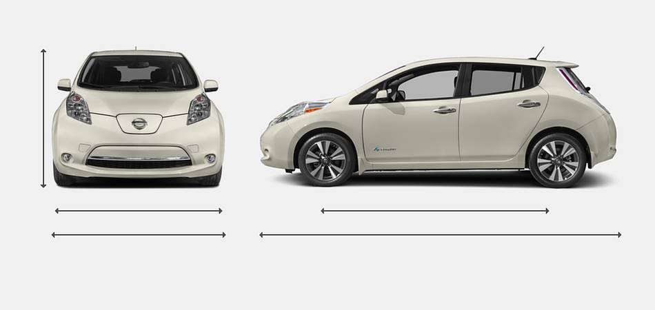 2017 Nissan Leaf Exterior Dimensions