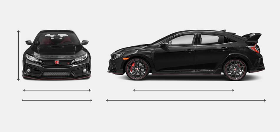 2021 Honda Civic Type R Exterior Dimensions