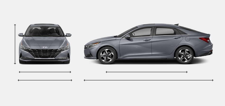 2021 Hyundai Elantra Exterior Dimensions