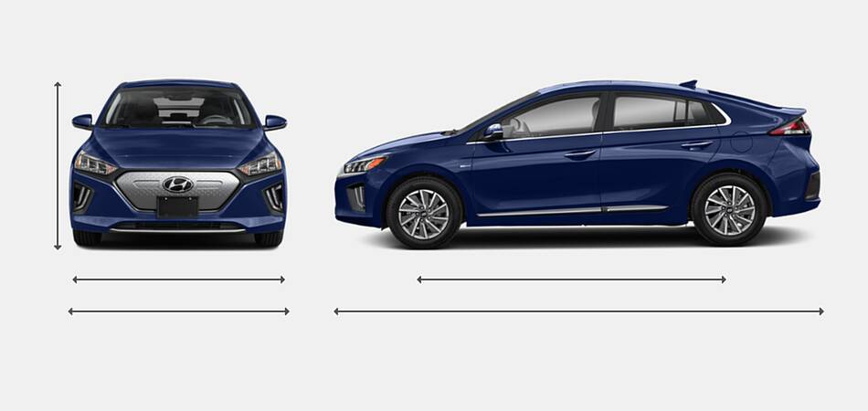 2021 Hyundai Ioniq Electric Exterior Dimensions