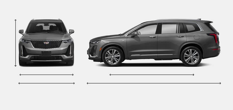 2021 Cadillac XT6 Exterior Dimensions