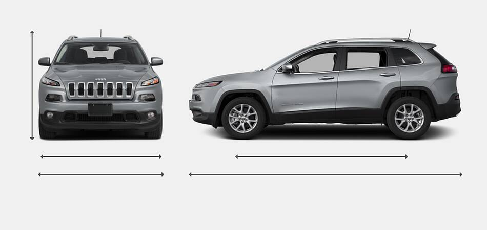 2018 Jeep Cherokee Exterior Dimensions