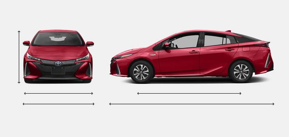 2017 Toyota Prius Prime Exterior Dimensions