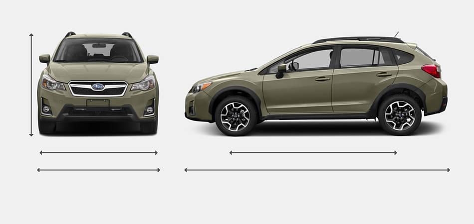 2017 Subaru Crosstrek Exterior Dimensions