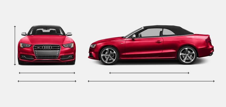 2016 Audi S5 Convertible Exterior Dimensions