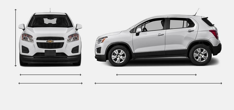 2016 Chevrolet Trax Exterior Dimensions