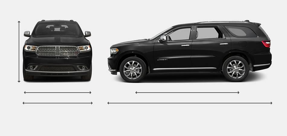 2016 Dodge Durango Exterior Dimensions