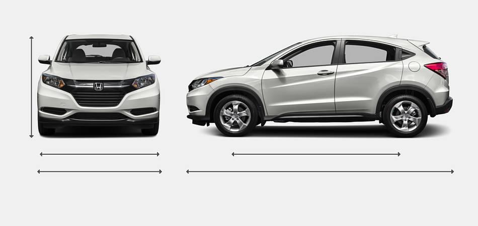 2016 Honda HR-V Exterior Dimensions