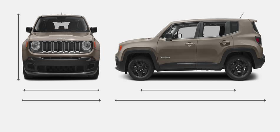 2016 Jeep Renegade Exterior Dimensions