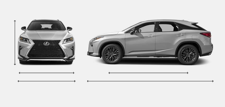 2016 Lexus RX 350 Exterior Dimensions