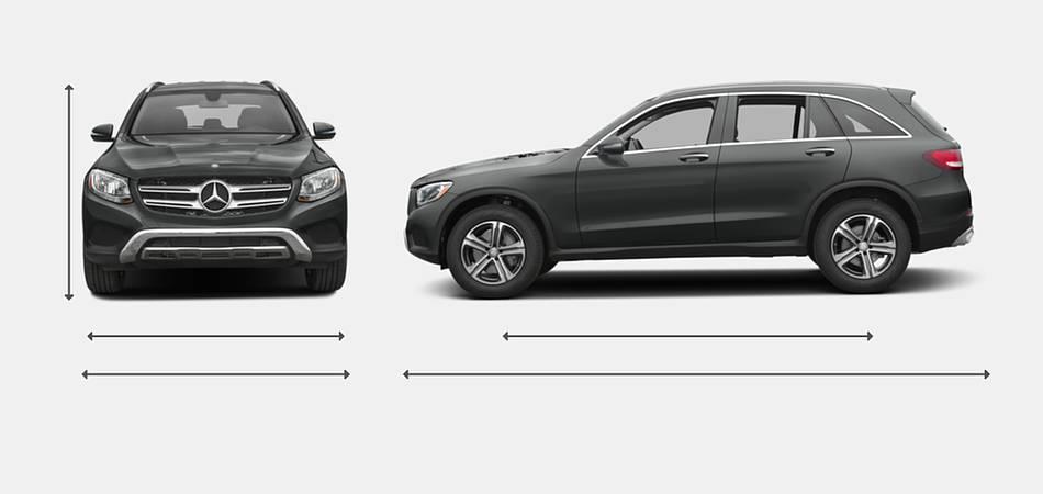 2016 Mercedes-Benz GLC-Class Exterior Dimensions