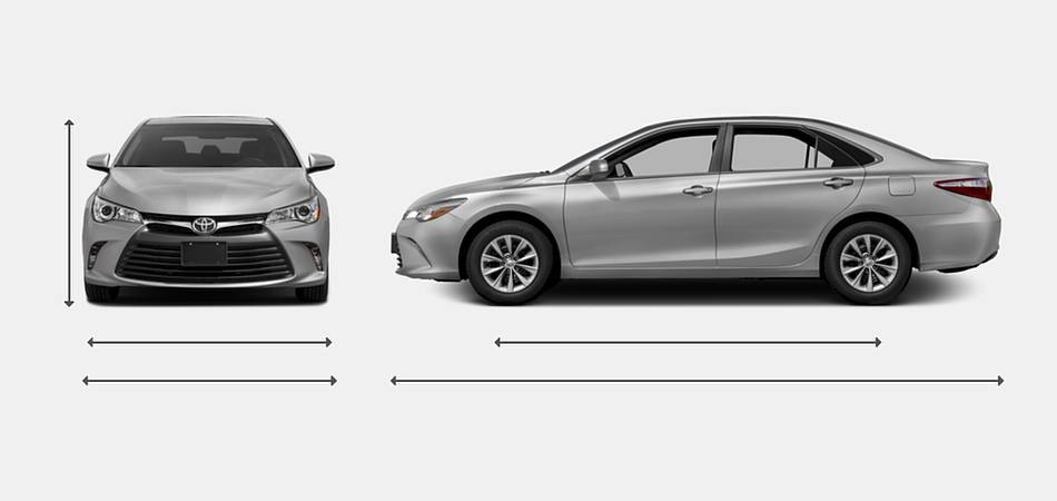 2016 Toyota Camry Exterior Dimensions