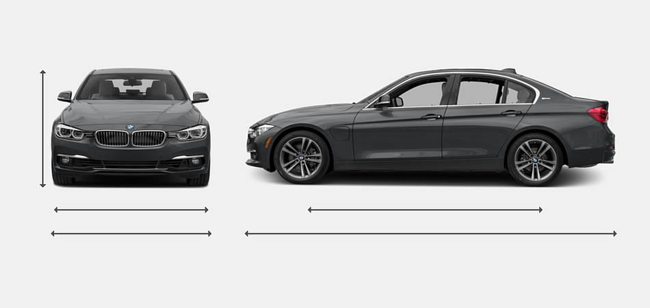 2017 Bmw 3 Series Sedan Hybrid Exterior Dimensions