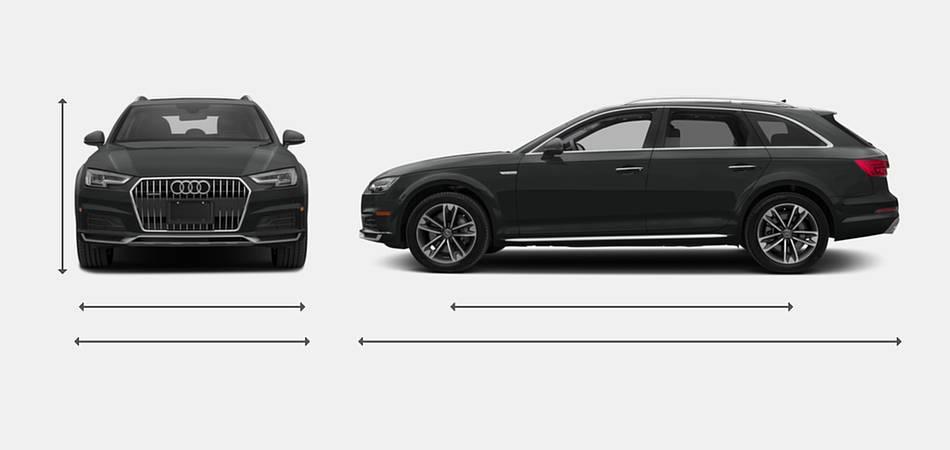 2018 Audi A4 allroad Exterior Dimensions
