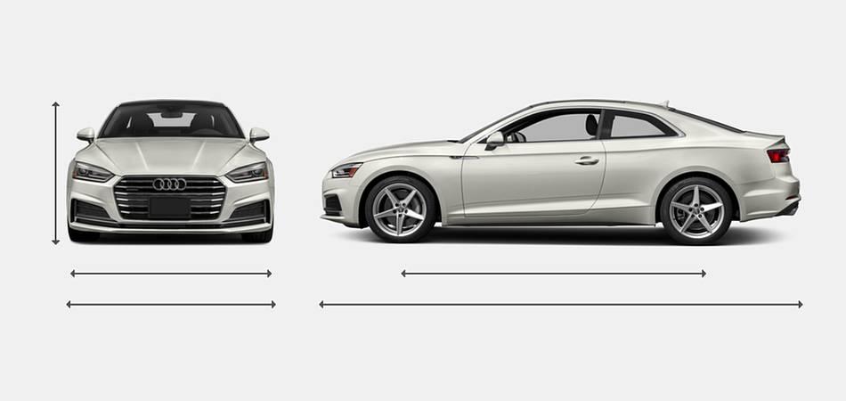 2018 Audi A5 Coupe Exterior Dimensions