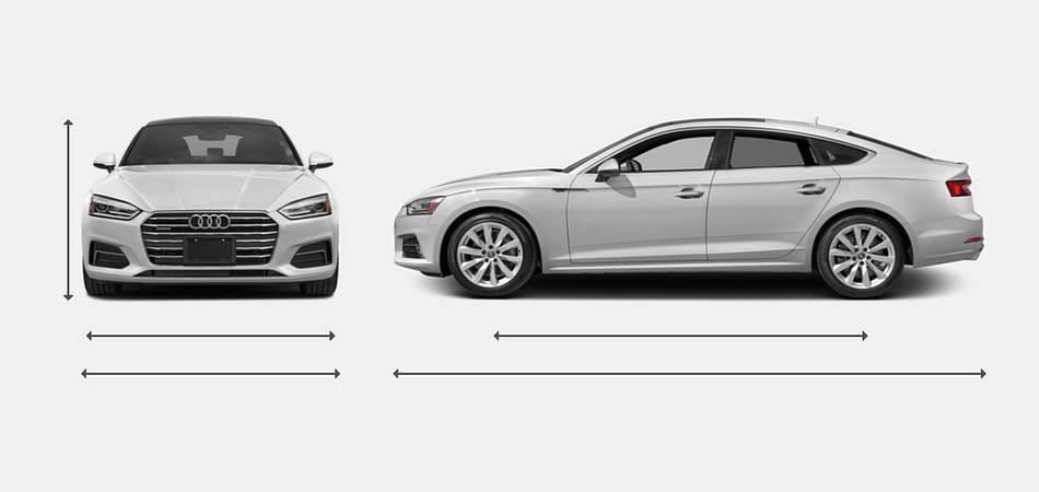 2018 Audi A5 Hatchback Exterior Dimensions