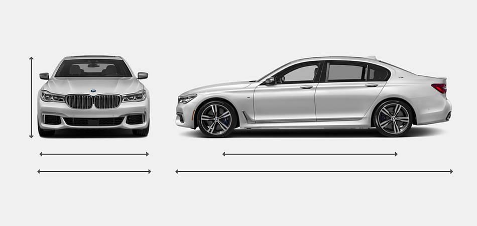 2018 BMW 7 Series M760i XDrive Exterior Dimensions