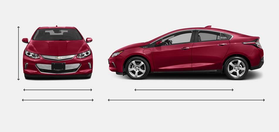 2018 Chevrolet Volt Exterior Dimensions