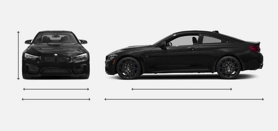 2018 BMW M4 Coupe Exterior Dimensions