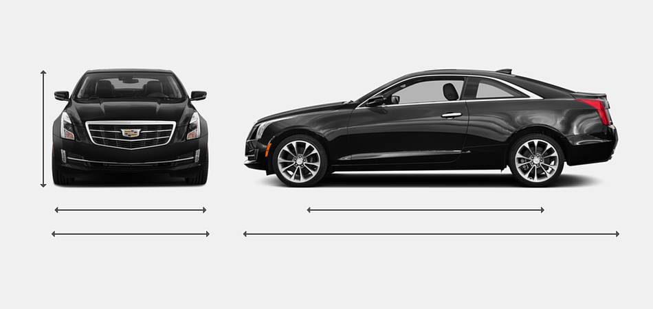 2018 Cadillac ATS Coupe Exterior Dimensions