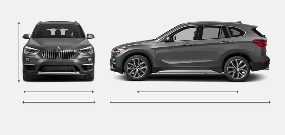 2017 BMW X1 Exterior Dimensions