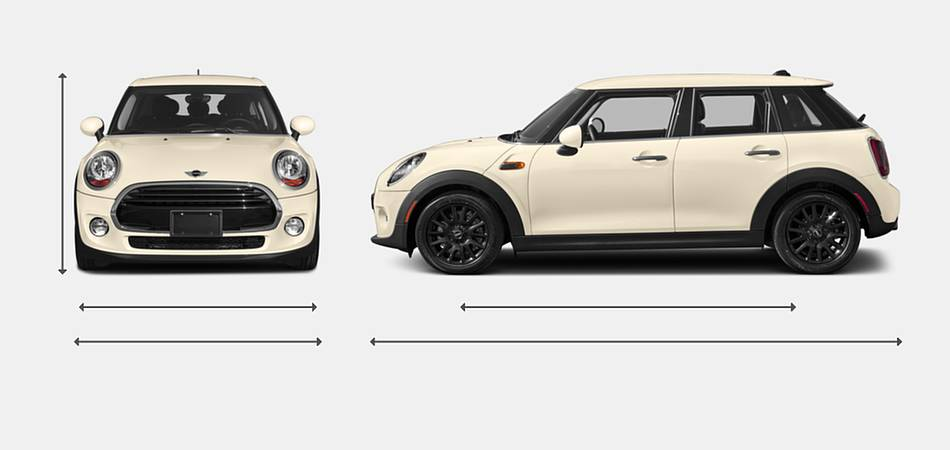 2018 Mini Hardtop 4 Door Exterior Dimensions
