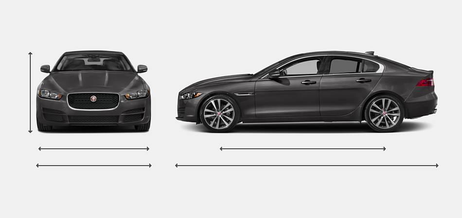 2018 Jaguar XE Diesel Exterior Dimensions