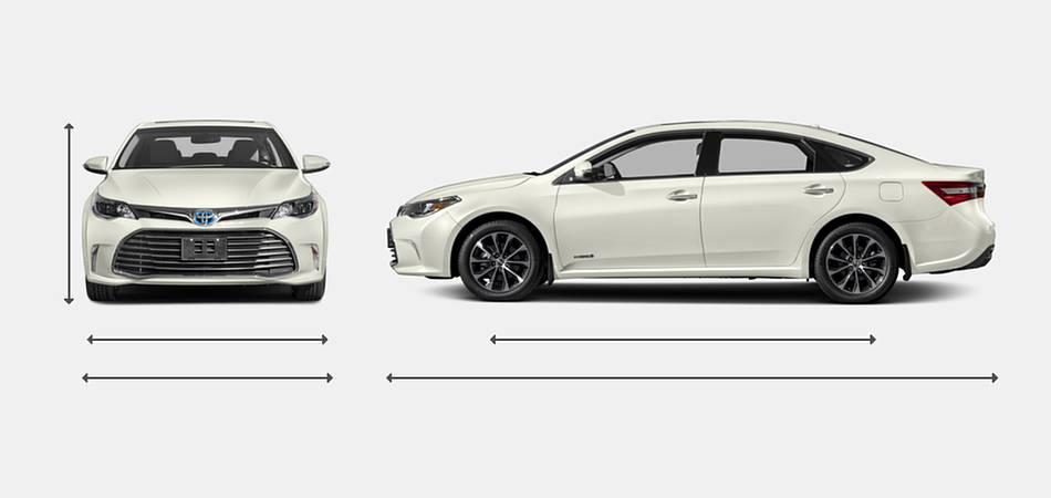 2018 Toyota Avalon Hybrid Exterior Dimensions