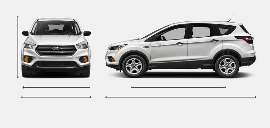 2018 ford escape suv - Ford explorer exterior dimensions ...