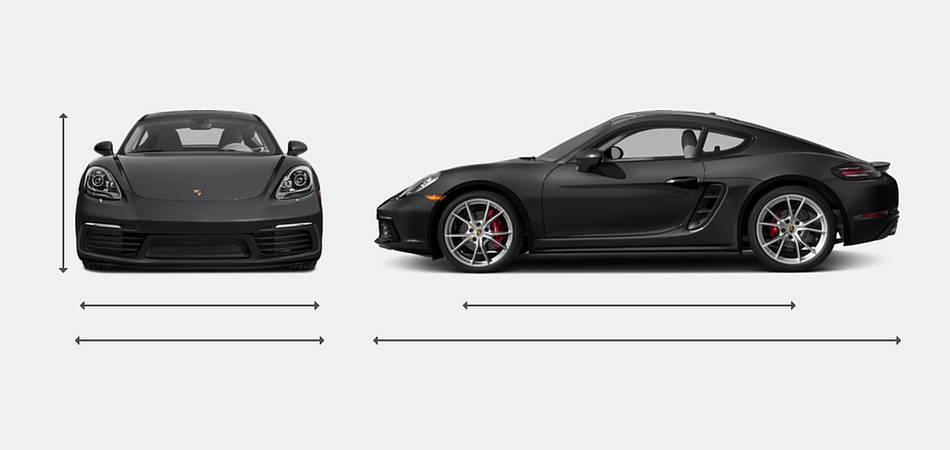 2018 Porsche 718 Cayman Exterior Dimensions