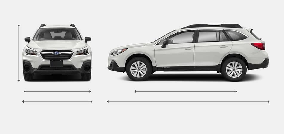 2018 Subaru Outback Exterior Dimensions